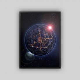 Jülich von oben, dargestellt als eigene Welt