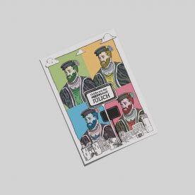 Postkarte mit 4fach abgebildetem Kaiser Wilhelm